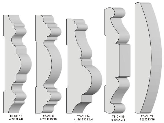 Chair rail moulding - Chair Rail Moulding Knives Profiles
