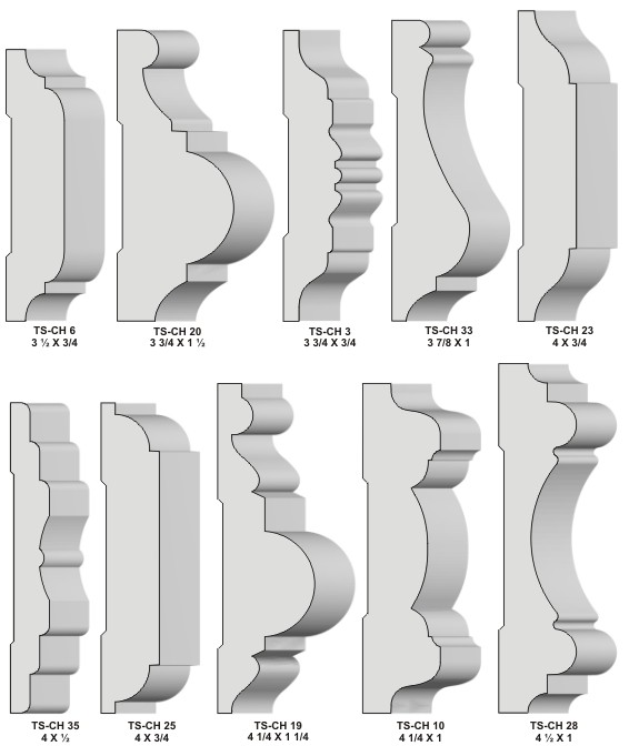 Chair Rail Profiles