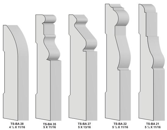 Base Baseboard Knives For Moulders